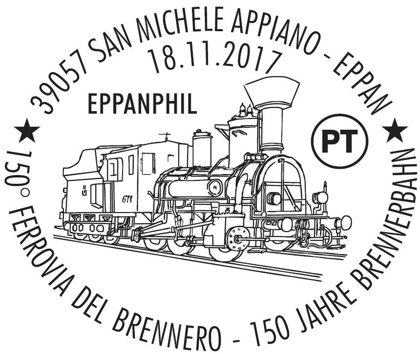 Sonderstempel 150 Jahre Brennerbahn - EppanPhil