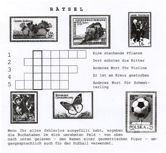Briefmarken - Rätsel