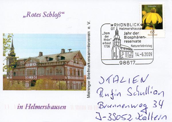Viele Grüße vom Meininger Briefmarkensammlerverein e.V.