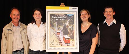 Präsentation Briefmarke Mendelbahn