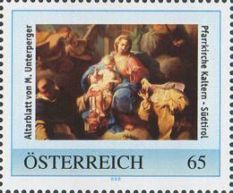 Personalisierte Marke Pfarrkirche Kaltern