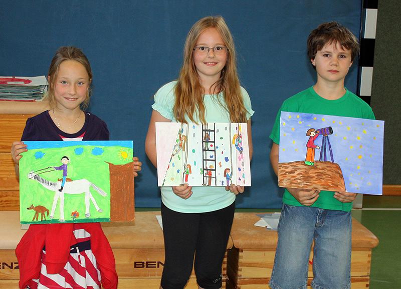 Die drei Siegerkinder