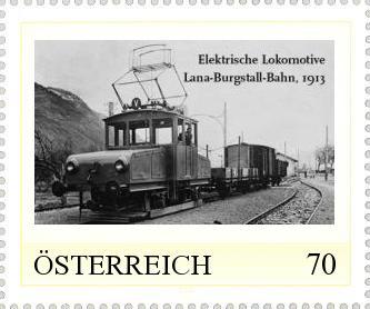Personalisierte Marke mit der Lokalbahn Lana - Burgstall