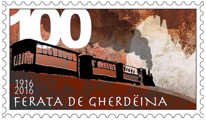 Briefmarke Grödner Bahn