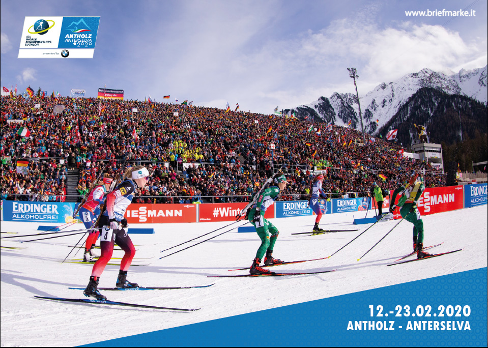 Briefmarke Biathlon WM 2020 Antholz
