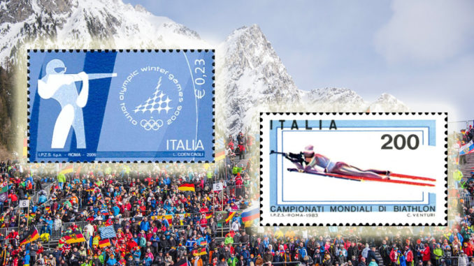 Briefmarke Biathlon WM 2020