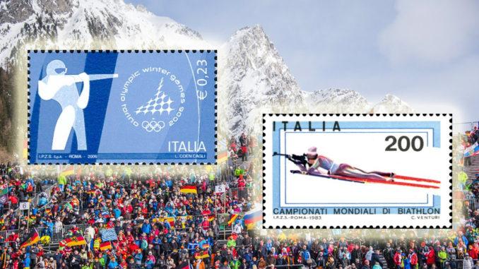 Briefmarke Biathlon WM 2020